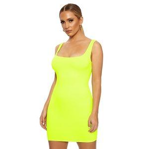 naked wardrobe tank mini dress - lime